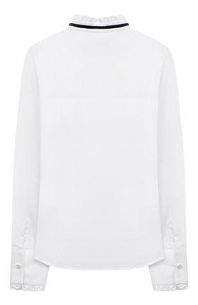 Детское хлопковая блузка DAL LAGO белого цвета, арт. R411B/7628/13-16   Фото 2