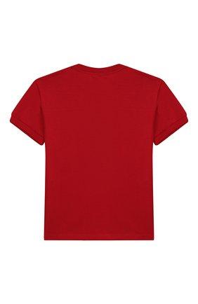 Детская хлопковая футболка DOLCE & GABBANA красного цвета, арт. L4JT7L/G7TNV/8-14 | Фото 2