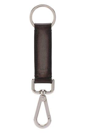 Мужской кожаный брелок BERLUTI коричневого цвета, арт. X184543 | Фото 1