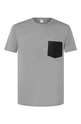 Мужская хлопковая футболка BERLUTI серого цвета, арт. R15JRS32-006   Фото 1