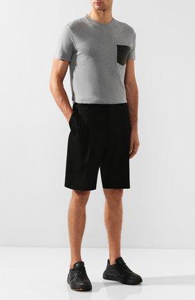 Мужская хлопковая футболка BERLUTI серого цвета, арт. R15JRS32-006   Фото 2