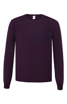 Мужской шерстяной джемпер BERLUTI фиолетового цвета, арт. R15KRL115-005 | Фото 1