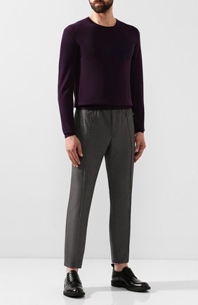 Мужской шерстяной джемпер BERLUTI фиолетового цвета, арт. R15KRL115-005 | Фото 2