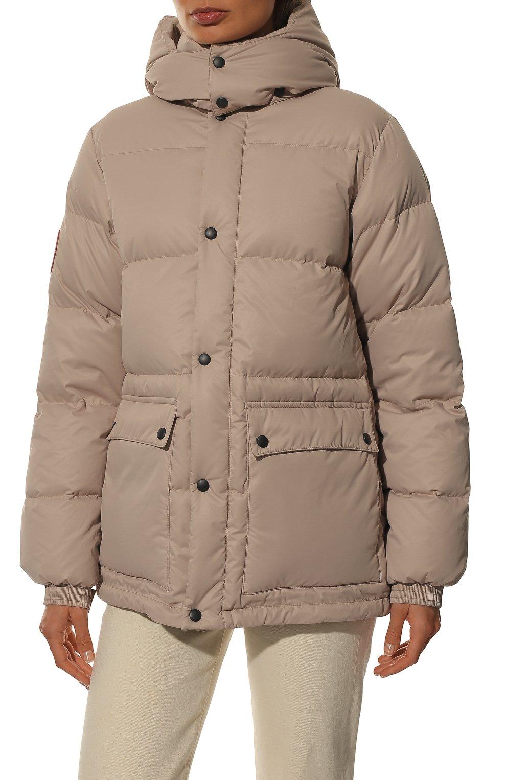 Женский пуховая куртка fanat ARCTIC EXPLORER бежевого цвета, арт. FANAT_LATTE_W | Фото 3