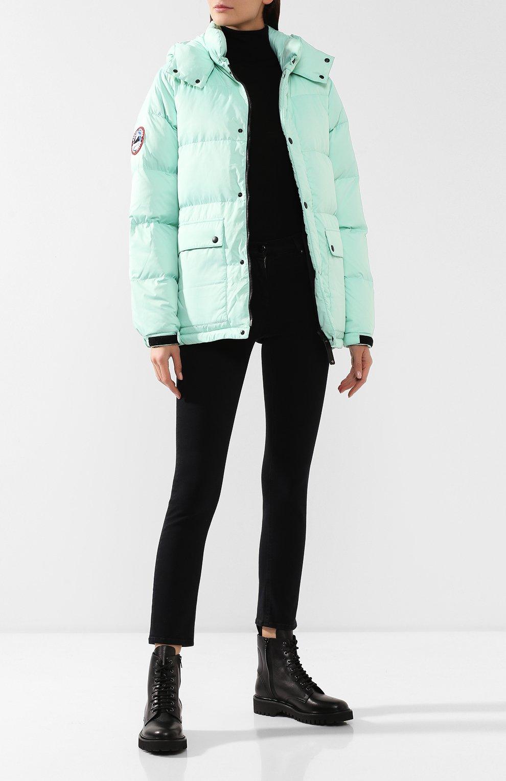Женский пуховая куртка fanat ARCTIC EXPLORER зеленого цвета, арт. FANAT_MINT_W | Фото 2