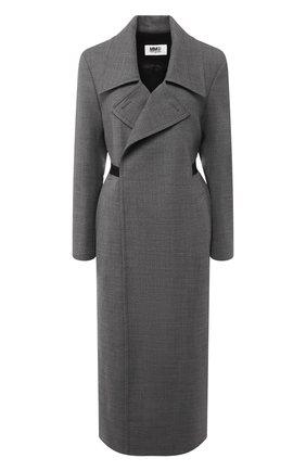 Женское пальто с поясом MM6 серого цвета, арт. S52AA0069/S47850 | Фото 1