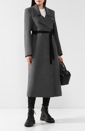Женское пальто с поясом MM6 серого цвета, арт. S52AA0069/S47850 | Фото 2