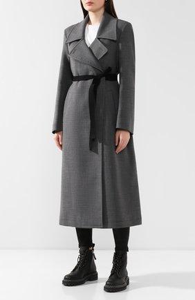 Женское пальто с поясом MM6 серого цвета, арт. S52AA0069/S47850 | Фото 3