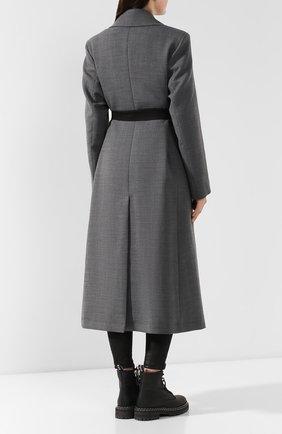 Женское пальто с поясом MM6 серого цвета, арт. S52AA0069/S47850 | Фото 4