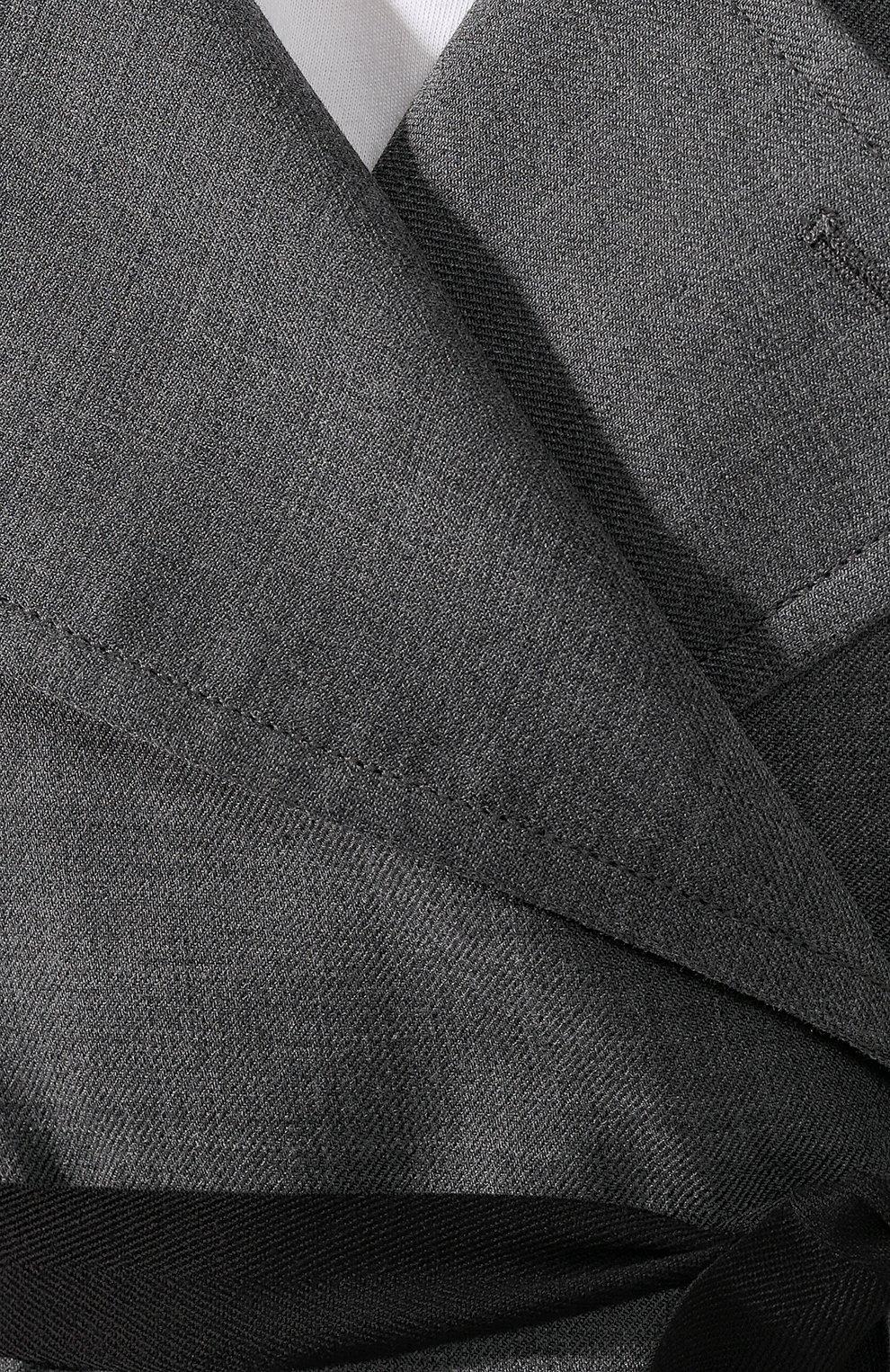 Женское пальто с поясом MM6 серого цвета, арт. S52AA0069/S47850 | Фото 5