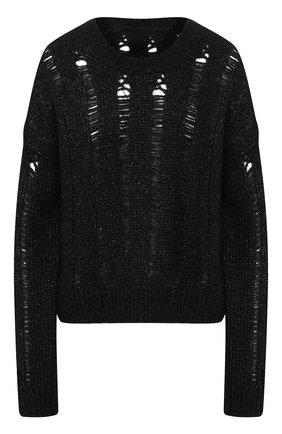 Женский свитер из хлопка и шерсти UMA WANG темно-серого цвета, арт. A9 M UK7194 | Фото 1