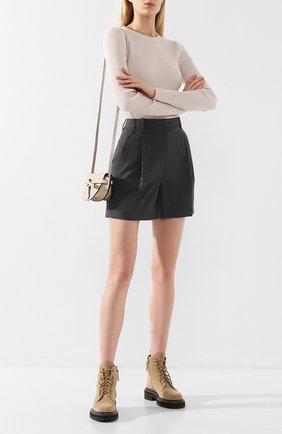 Женские шорты с завышенной талией 3.1 PHILLIP LIM серого цвета, арт. S191-5408VPP | Фото 2