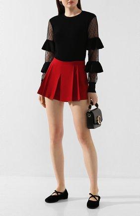 Женские шорты с защипами REDVALENTINO красного цвета, арт. SR3RF115/2EU | Фото 2