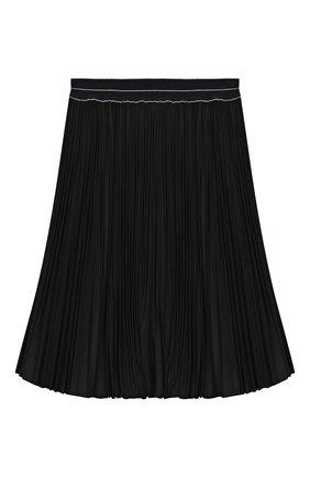 Детская плиссированная юбка ALETTA темно-синего цвета, арт. AF999337LL/4A-8A | Фото 1