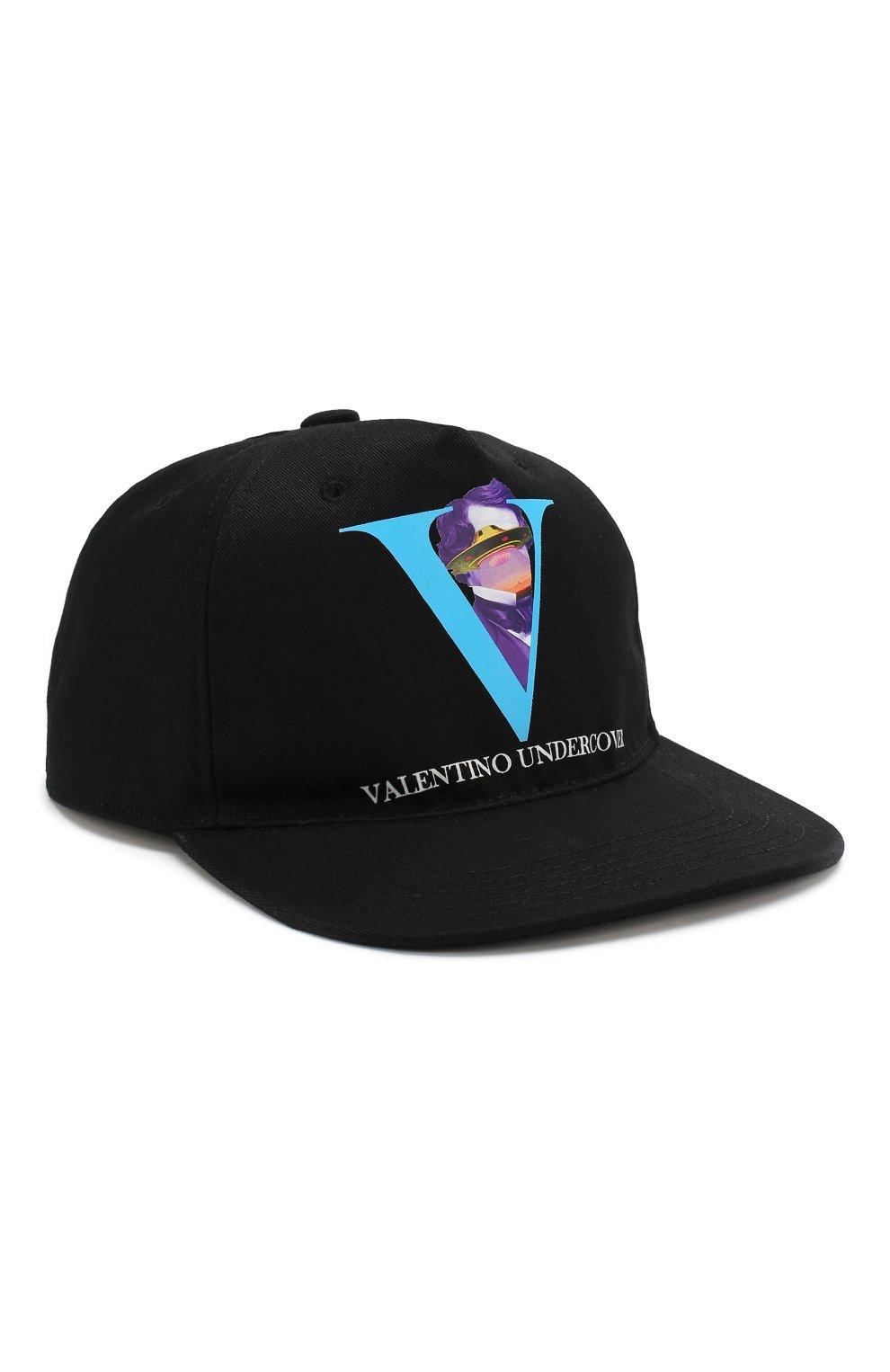 Мужской хлопковая бейсболка valentino x undercover VALENTINO черного цвета, арт. SY0HDA10CEU   Фото 1