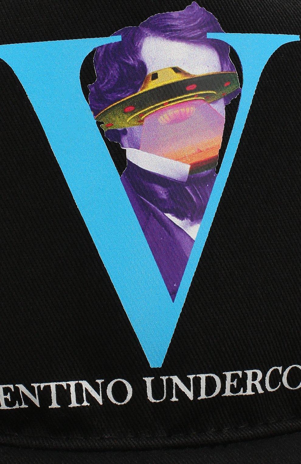 Мужской хлопковая бейсболка valentino x undercover VALENTINO черного цвета, арт. SY0HDA10CEU   Фото 3
