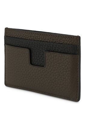 Мужской кожаный футляр для кредитных карт TOM FORD коричневого цвета, арт. Y0232T-CS4   Фото 2