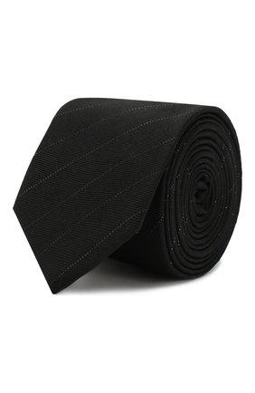 Мужской шелковый галстук SAINT LAURENT черного цвета, арт. 584330/4YC56 | Фото 1