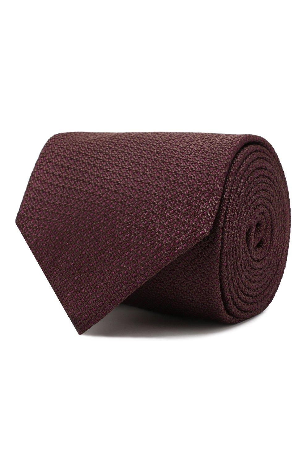 Мужской шелковый галстук BRIONI бордового цвета, арт. 062H00/08437 | Фото 1