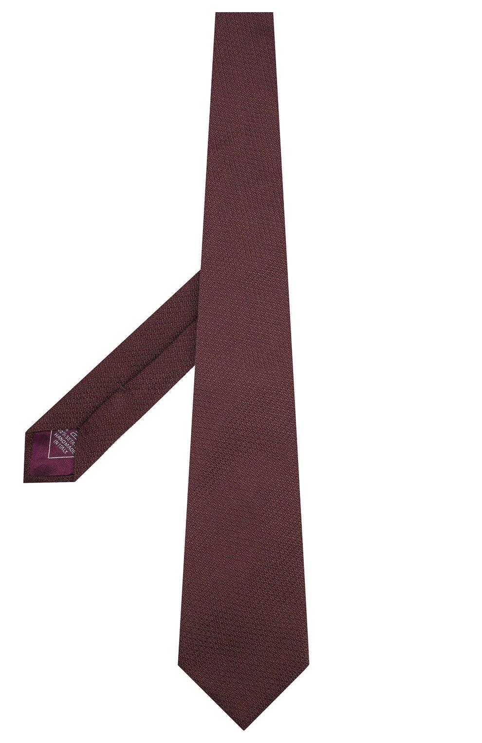 Мужской шелковый галстук BRIONI бордового цвета, арт. 062H00/08437 | Фото 2