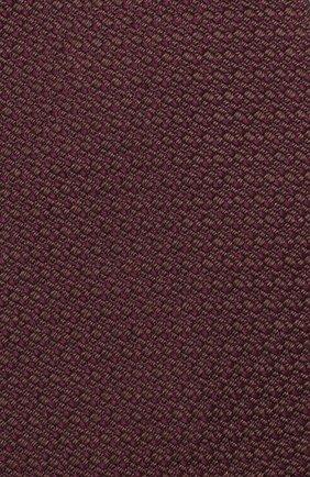 Мужской шелковый галстук BRIONI бордового цвета, арт. 062H00/08437 | Фото 3