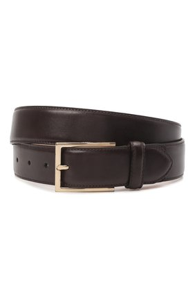 Мужской кожаный ремень BRIONI темно-коричневого цвета, арт. 0BAC0L/P6757 | Фото 1