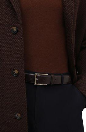 Мужской кожаный ремень BRIONI темно-коричневого цвета, арт. 0BAC0L/P6757 | Фото 2