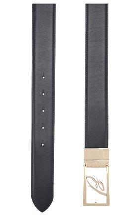 Мужской кожаный ремень BRIONI темно-синего цвета, арт. 0BVZ0L/08752 | Фото 2