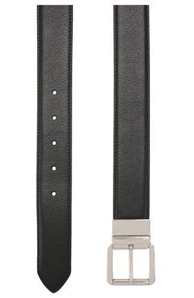 Мужской кожаный ремень BRIONI черного цвета, арт. 0BZ40L/08752 | Фото 2