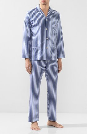Мужская хлопковая пижама ROBERTO RICETTI синего цвета, арт. VENEZIA/LX2303 | Фото 1