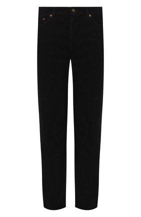Мужской хлопковые брюки SAINT LAURENT черного цвета, арт. 584475/Y517V | Фото 1