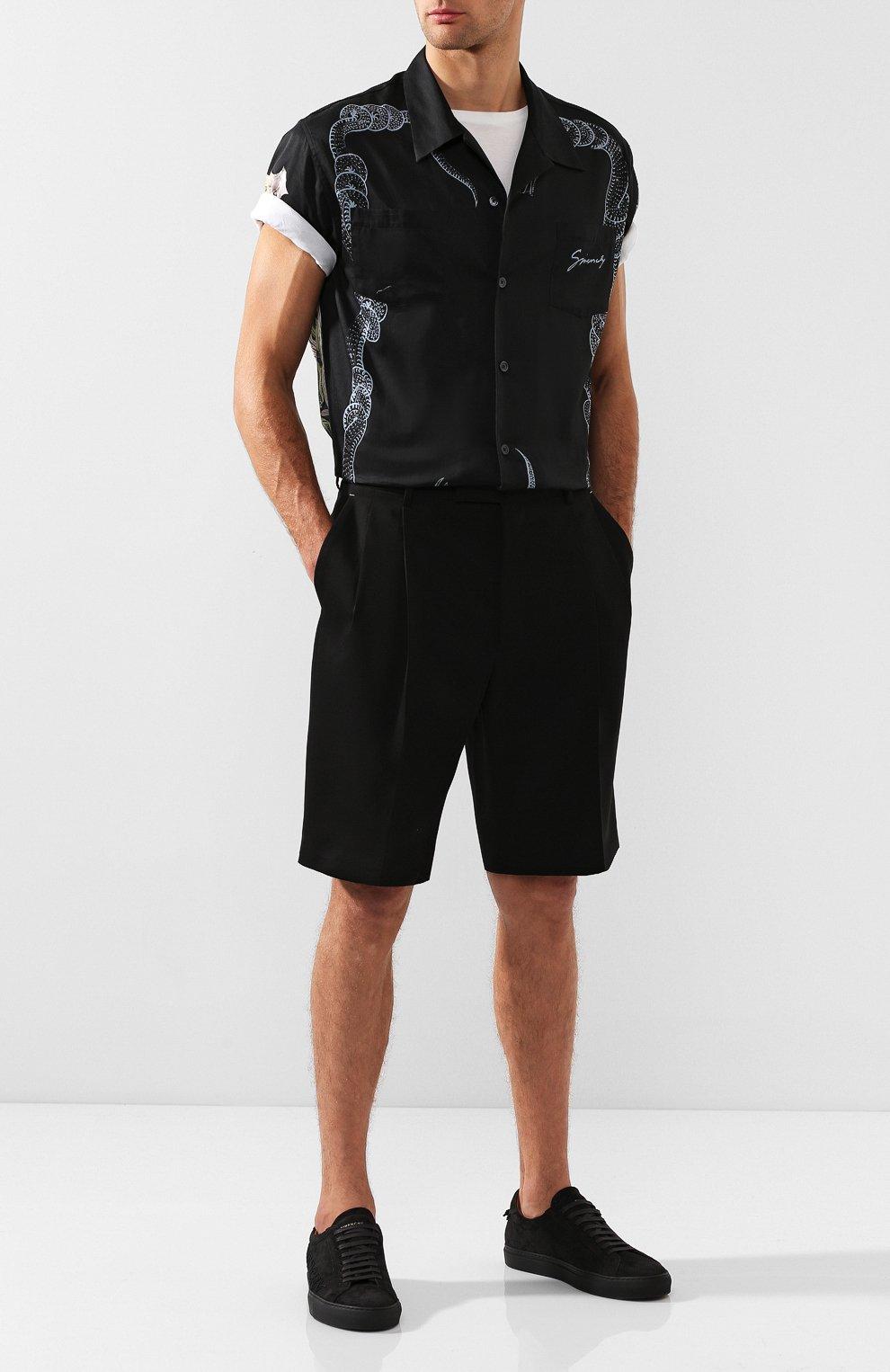 Замшевые кеды Givenchy черные | Фото №2