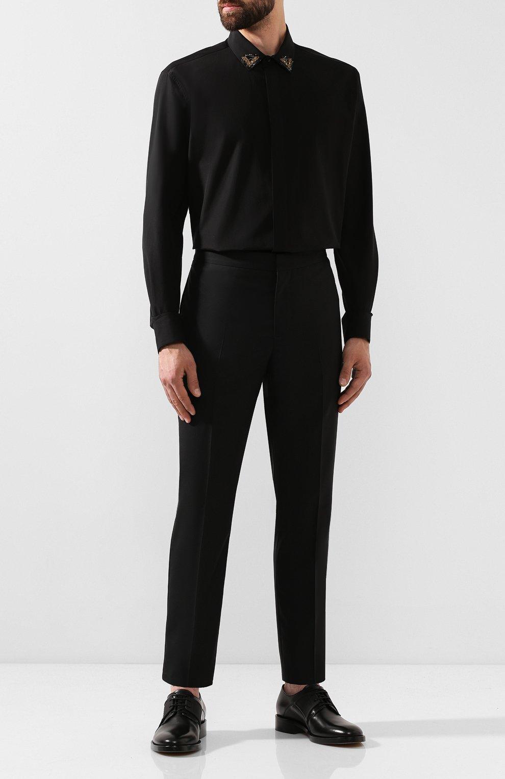 Мужские кожаные дерби GIVENCHY черного цвета, арт. BH1016H0E8 | Фото 2