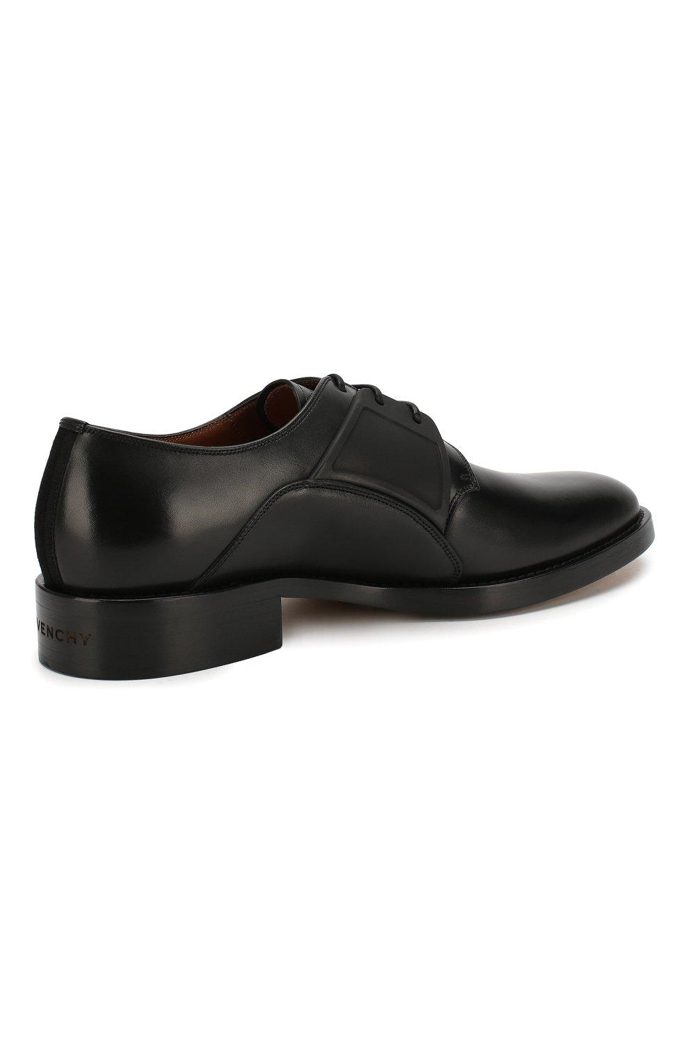 Мужские кожаные дерби GIVENCHY черного цвета, арт. BH1016H0E8 | Фото 4