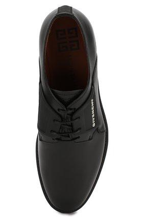 Мужские кожаные дерби GIVENCHY черного цвета, арт. BH1016H0E8 | Фото 5