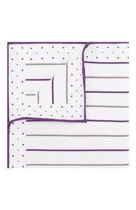 Мужской хлопковый платок BRUNELLO CUCINELLI фиолетового цвета, арт. ML8490091 | Фото 1