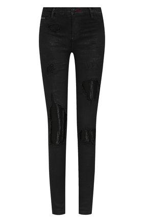 Женские джинсы PHILIPP PLEIN черного цвета, арт. WDT1170 | Фото 1