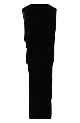 Женское платье из смеси вискозы и шелка RICK OWENS черного цвета, арт. RP19F5510/V   Фото 1