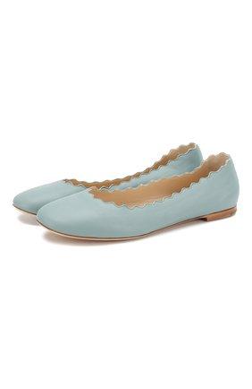 Женские балетки lauren CHLOÉ голубого цвета, арт. CH22170/LADY CALF | Фото 1