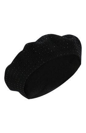 Женский берет SAINT LAURENT черного цвета, арт. 580358/3YD12 | Фото 1