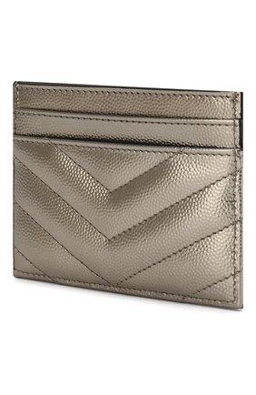 Женский футляр для кредитных карт SAINT LAURENT серебряного цвета, арт. 423291/03X07   Фото 2