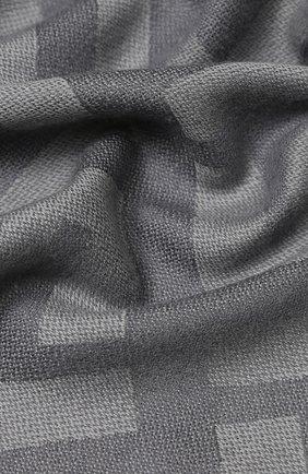 Мужские шарф из смеси шерсти и кашемира FENDI серого цвета, арт. FXT069 A669 | Фото 2