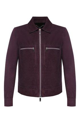 Мужская замшевая куртка BERLUTI фиолетового цвета, арт. R16LBL54-002 | Фото 1