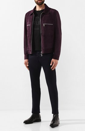 Мужская замшевая куртка BERLUTI фиолетового цвета, арт. R16LBL54-002 | Фото 2