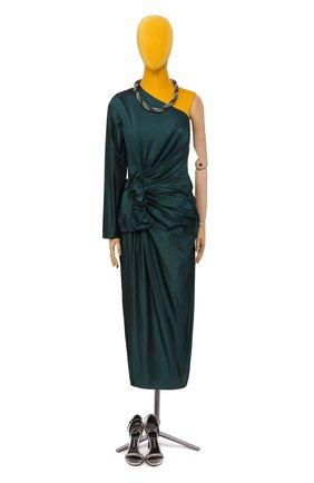 Женское шелковое платье LANVIN темно-зеленого цвета, арт. RW-DR2161-3268-H16 | Фото 1