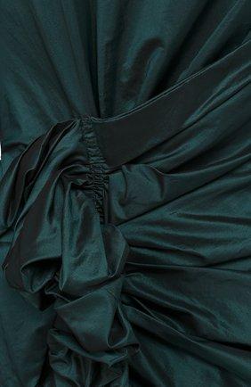 Женское шелковое платье LANVIN темно-зеленого цвета, арт. RW-DR2161-3268-H16 | Фото 2