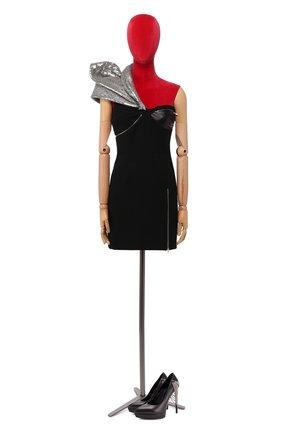 Женское шерстяное платье SAINT LAURENT черного цвета, арт. 400821/Y024J | Фото 1