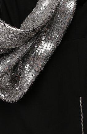 Женское шерстяное платье SAINT LAURENT черного цвета, арт. 400821/Y024J | Фото 2