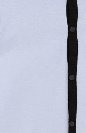 Детский хлопковый комбинезон GIVENCHY голубого цвета, арт. H97046 | Фото 3