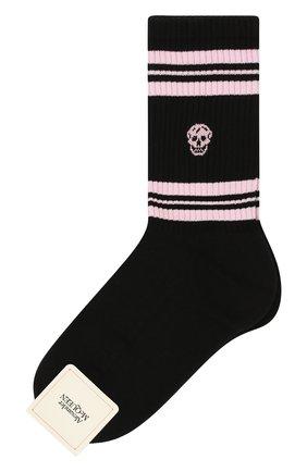 Женские хлопковые носки ALEXANDER MCQUEEN черного цвета, арт. 584617/3B74Q | Фото 1